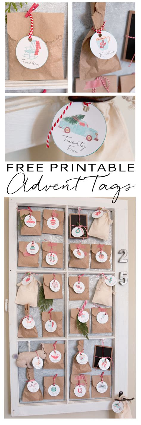free printable advent ornaments christmas advent tag ornaments free printable