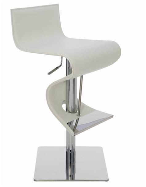 Contemporary White Leather Bar Stools by 35 Stylish Modern Adjustable White Leather Bar Stools