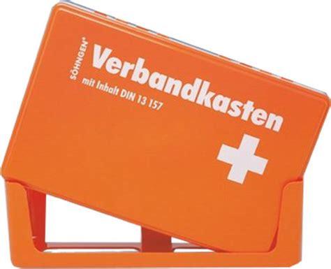 Kfz Verbandskasten Lange Haltbar by S 214 Hngen 174 Verbandkasten Din 13157 Lange 20 Jahre Haltbar