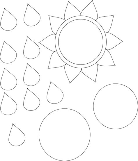 sunflower template printable 6 best images of sunflower cut out template printable