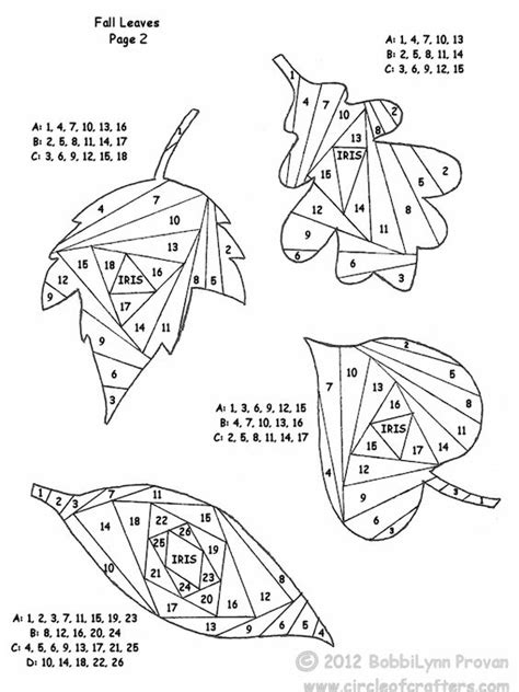free printable iris folding patterns iris folding leaves