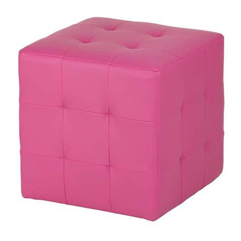 Pink Ottomans Pink Cube Ottoman