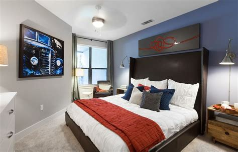 light grey walls  blue accent wall google search
