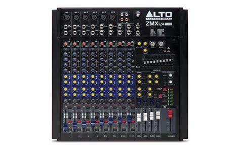 alto professional legacy mixers series gt zmx124fx usb