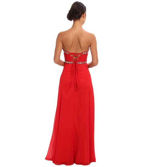 T2b Spotting The Meister Club Wear by Faviana Strapless Sweetheart Corset Back Dress 7366 In