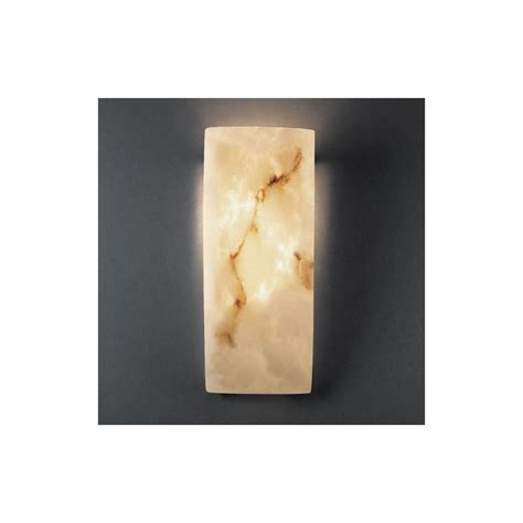 Alabaster Wall Sconce Justice Design Fal 5135 Faux Alabaster 1 Light Faux Alabaster Wall Washer Sconce From The