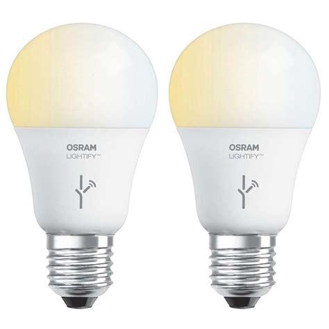 Osram Led Light Bulbs Sylvania Osram Lightify 60 Watt A19 Tunable Smart Home Led Light Bulb 2 Pack