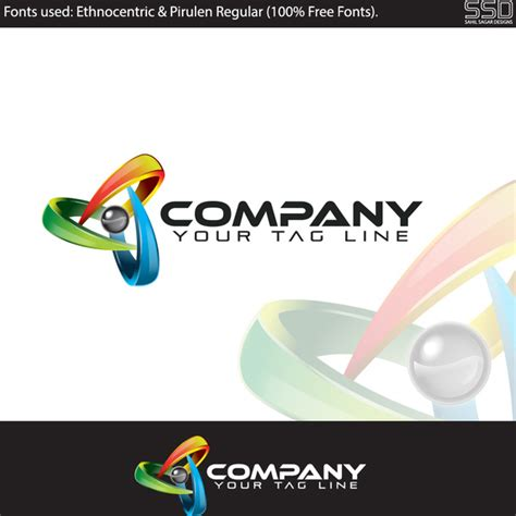 design free professional logo 3d professional logo design template free vector in adobe