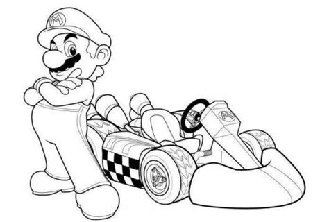 Mario Racing Coloring Pages | mario kart racing coloring pages holidays and events