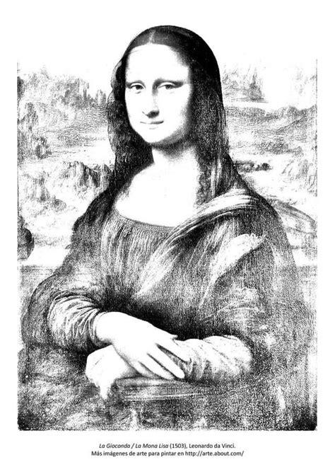 cuadros de la mona lisa 9 dibujos de cuadros famosos para pintar para pintar la