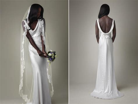 White Silk Wedding Dresses by Simple White Silk Mermaid Wedding Dress With Open Back