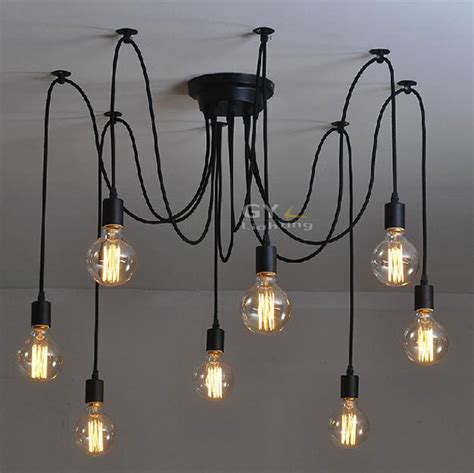 Hanging Bulb Chandelier 100 240v Novelty Deco Modern Diy Chandelier Lustre Brief Pendant Hanging Ls Abajur
