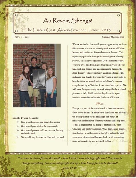 missions support letter template tony sheng mobilizing students for missions 2013