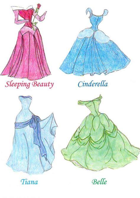 How To Draw A Disney Princess Dress Free Coloring Sheets Dresses Drawings Disney Princess Dresses One By