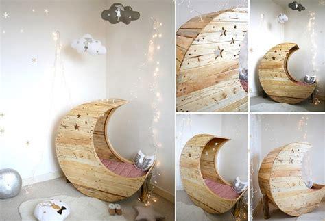 Cozy Baby Crib With Moon - cozy baby crib with moon shape icreatived