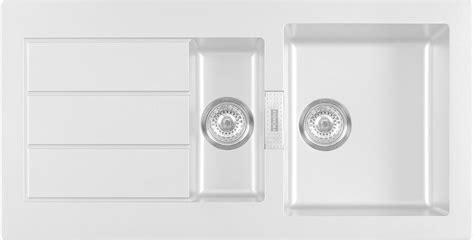B Q White Kitchen Sinks by Franke Sirius 1 5 Bowl White Composite 1 5 Kitchen Sink