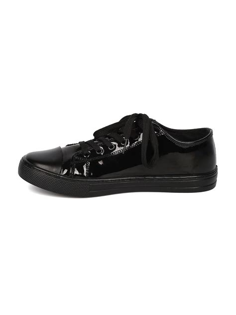 shoes qupid gf69 women patent leatherette capped toe lace
