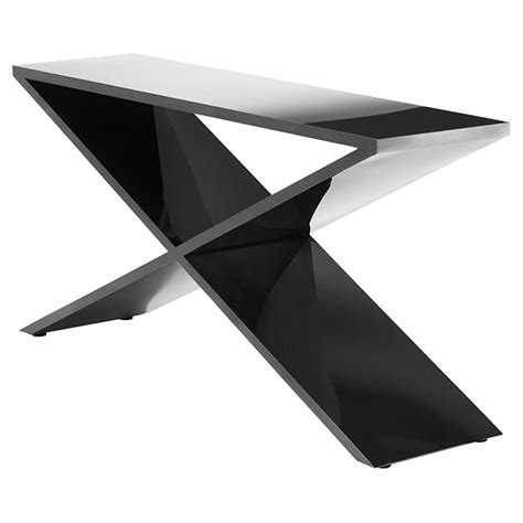 black modern console table prague modern console table black