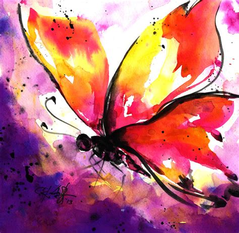 items similar to butterfly no 5 original abstract