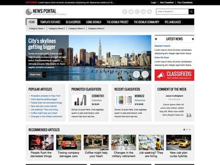 template joomla news portal free joomla template jm news portal