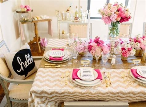 Pink And Gold Table Setting by Pink And Gold Table Setting Can T Wait