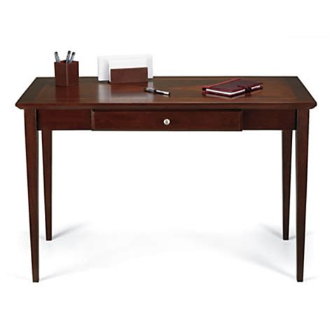 realspace inlay writing desk light cherry by office depot