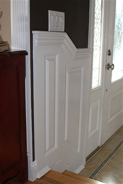 New Wainscoting by Custom Raised Panel Staircase Wainscoting Pictures