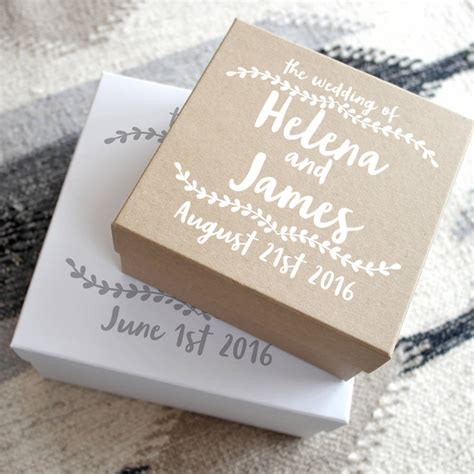 Wedding Gift Box personalised wedding keepsake gift box by letterfest