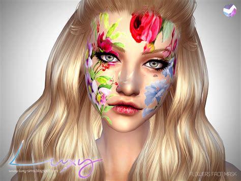 Masker Komedo Uh Mask Flower luxysims flowers mask