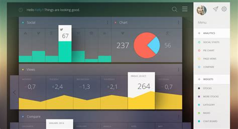 web design effect 6 best flat dashboard web designs free dashboard templates