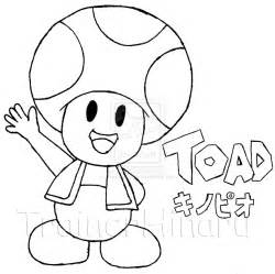 toad coloring pages super mario kids coloring