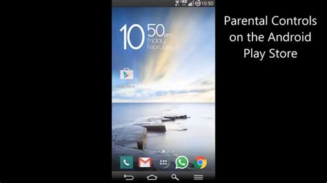 how to setup parental controls on android parental controls for the android play store