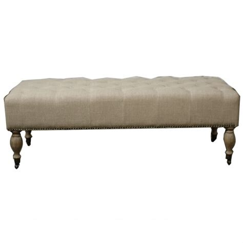 tuffed bench madeline tufted ottoman bench