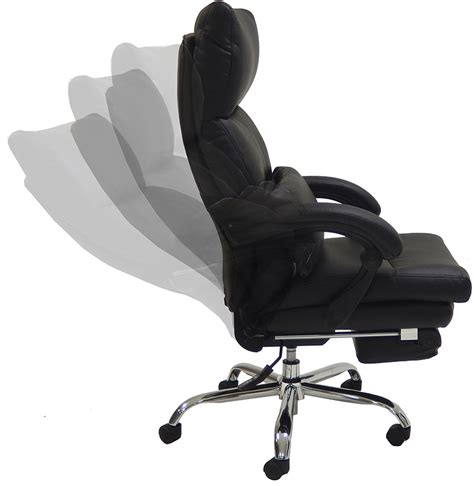 Recliner Footrest by Pillow Top Leather Office Recliner W Footrest