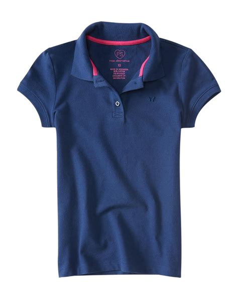 Ae Ropostale Shirts White aeropostale ps solid pique polo shirt ebay
