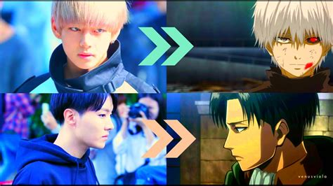 bts as anime characters in real