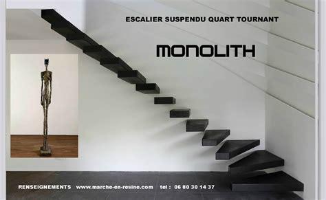 Escalier Suspendu Beton by Escalier Suspendu Quart Tournant Escalier Suspendu