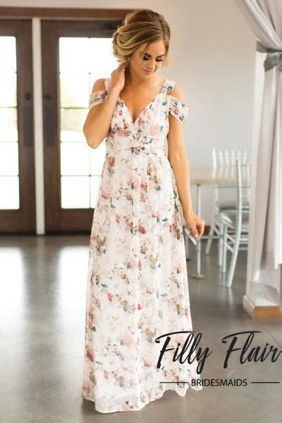bridesmaid dress in floral filly flair