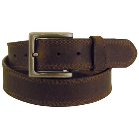wrangler rugged wear s leather belt stitching