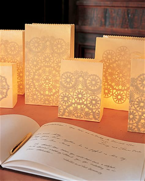 How To Make Paper Bag Luminaries - 30 diy doily crafts oh my creative