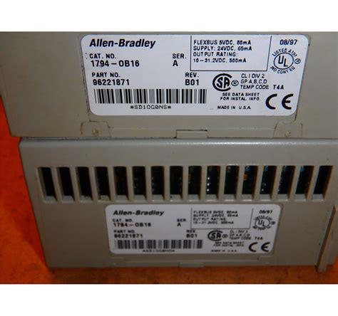 Allen Bradley 1794 Ob16 allen bradley 1794 ob16 ser a module btm industrial
