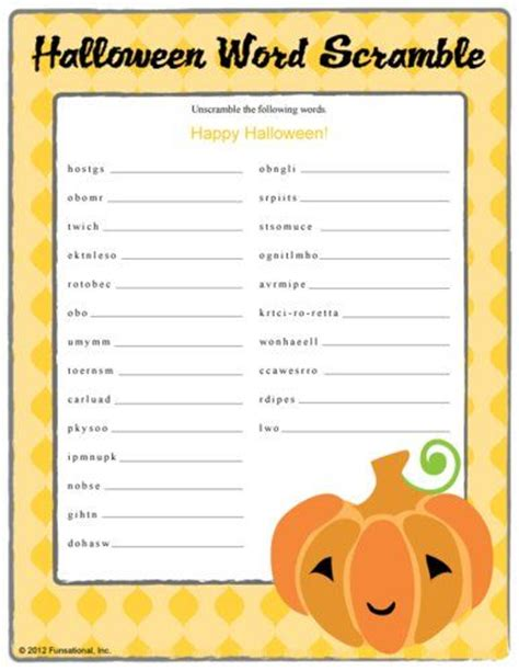 free printable halloween word games for adults halloween word scramble pumpkin mrs fishers 2nd grade
