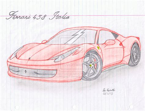 ferrari drawing how to draw ferrari 458 italia
