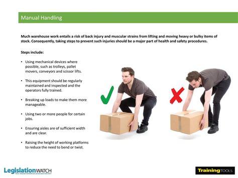 85 steps to manual handling manual handling