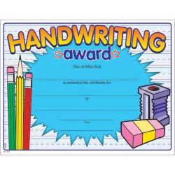 handwriting award certificate jones supply