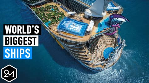biggest boat in the world youtube top 10 biggest cruise ships in the world 2017 youtube
