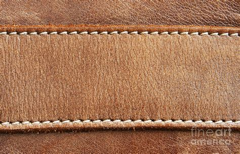 Leather With Stitching Photograph by Blink Images