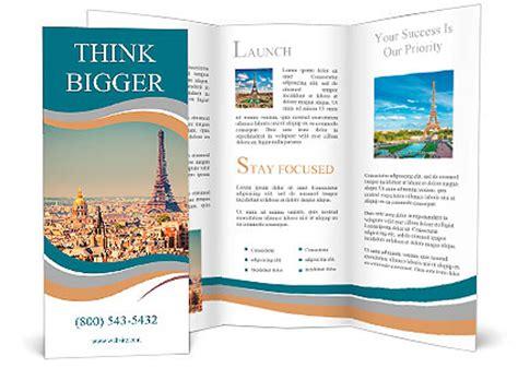 eiffel tower in paris brochure template amp design id