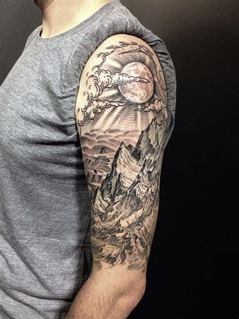 11 amazingly well done mountain range tattoos