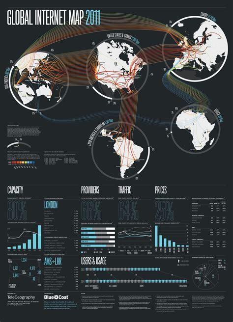 infographie la carte mondiale  dinternet